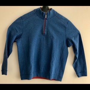 Tommy Bahama Mens Sweater 1/4 Zip Reversible